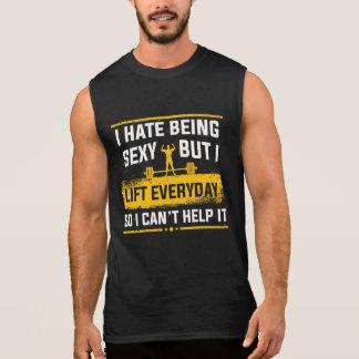 Odio ser los tanques divertidos del gimnasio camiseta sin mangas