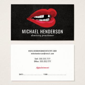 Odontología cosmética profesional moderna tarjeta de visita
