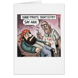 Odontología del pirata tarjeta de felicitación