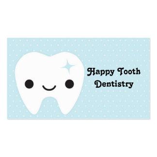 Odontología, dientes, tarjeta de visita, linda, di