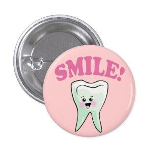 Odontología divertida chapa redonda de 2,5 cm