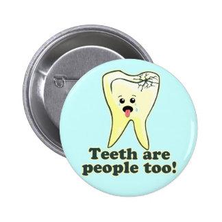 Odontología divertida chapa redonda de 5 cm