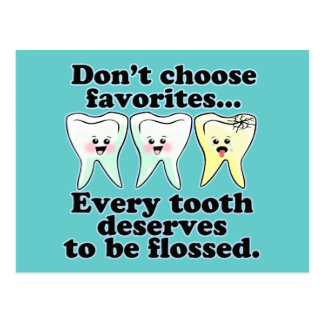Odontología divertida postal