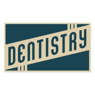 odontología retra tarjetas de visita