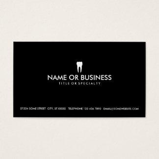 odontología simple tarjeta de negocios