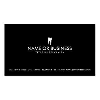 odontología simple tarjetas de visita