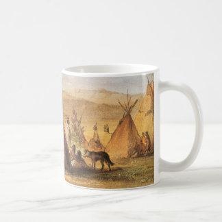 Oeste americano del vintage, tiendas de los indios taza de café