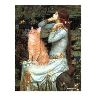 Ofelia - gato de Tabby anaranjado 46 Postal