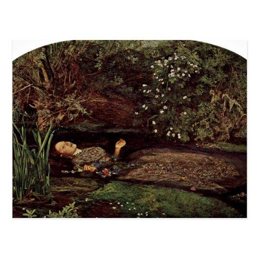 Ofelia por Millais, Juan Everett (la mejor calidad Postal