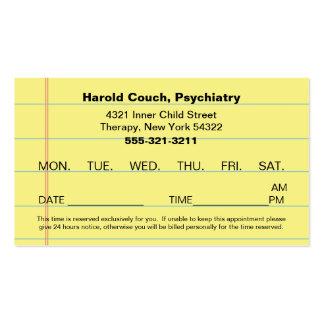 Office Appointment Card del doctor Tarjetas De Visita