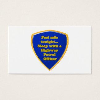 Oficial de patrulla de la carretera tarjeta de visita