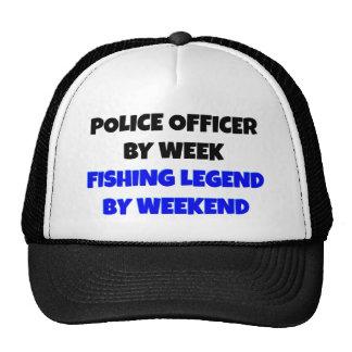 Oficial de policía de la leyenda de la pesca gorras de camionero
