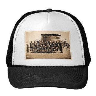 Oficiales en cubierta de la guerra civil del gorra