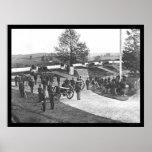 Oficiales y hombres en el fuerte Stevens, DC 1865 Impresiones
