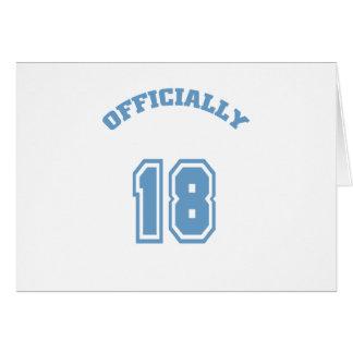 Oficialmente 18 tarjeta de felicitación