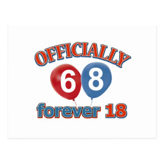 Oficialmente 68 para siempre 18 postal