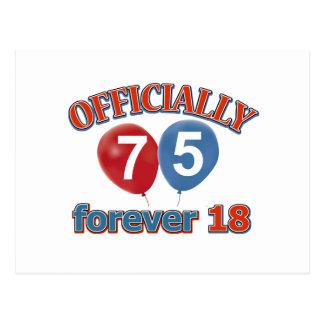 Oficialmente 75 para siempre 18 postal