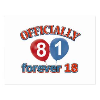 Oficialmente 81 para siempre 18 postal