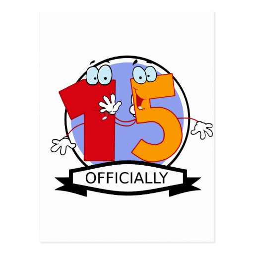 Oficialmente bandera de 15 cumpleaños tarjeta postal