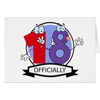 Oficialmente bandera de 18 cumpleaños felicitaciones