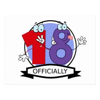 Oficialmente bandera de 18 cumpleaños postales