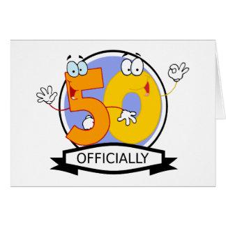 Oficialmente bandera de 50 cumpleaños tarjeta de felicitación
