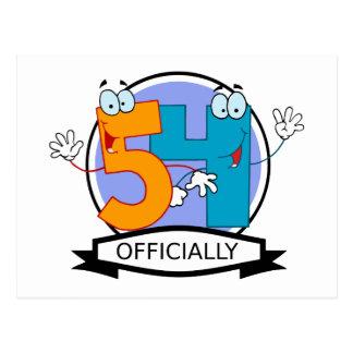 Oficialmente bandera de 54 cumpleaños postal