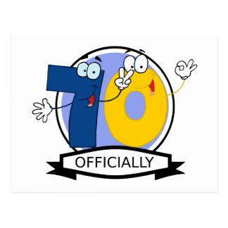 Oficialmente bandera de 70 cumpleaños postal