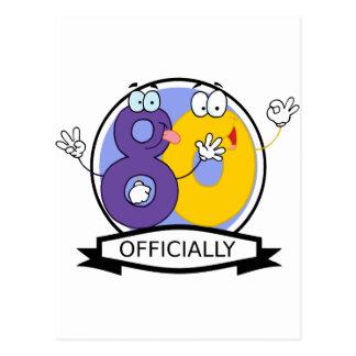 Oficialmente bandera de 80 cumpleaños tarjeta postal