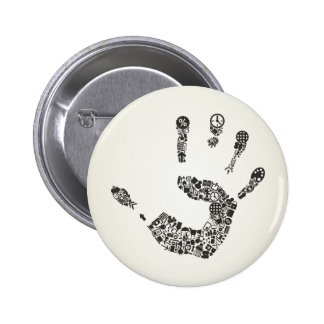 Oficina de la mano chapa redonda de 5 cm