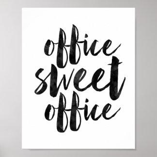 Oficina del dulce de la oficina póster