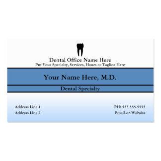 oficina dental tarjetas de visita