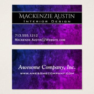 Oficina el | Ombre rosado púrpura azul elegante Tarjeta De Visita