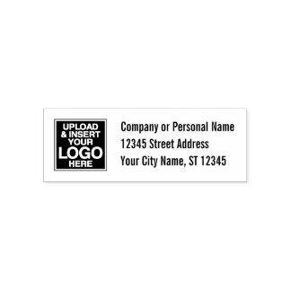 Oficina o etiqueta básica de la dirección sello automático