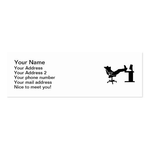 Oficinista de relajación perezoso tarjetas de visita