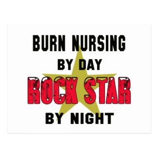 Oficio de enfermera de la quemadura por el día postal