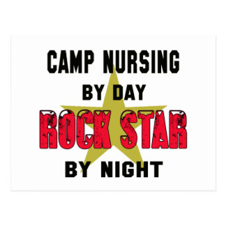 Oficio de enfermera del campo por el día rockstar postal