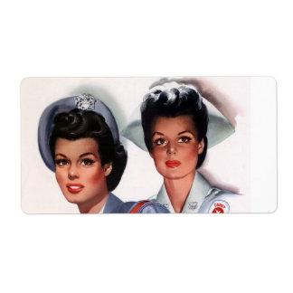 Oficio de enfermera del vintage etiquetas de envío