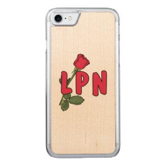 Oficio de enfermera LPN subió Funda Para iPhone 7 De Carved