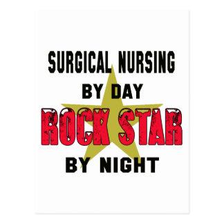Oficio de enfermera quirúrgico por el día rockstar postal