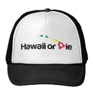 OG Hawaii o mueren logotipo - colores de Rasta Gorros Bordados