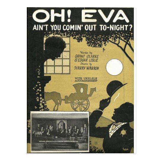 Oh aint de Eva usted comin hacia fuera esta noche Postal