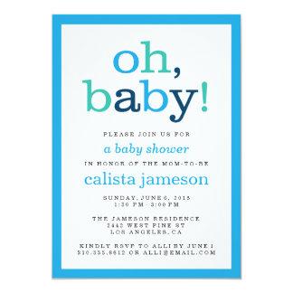 ¡Oh bebé! Invitaciones modernas de la fiesta de Invitación 12,7 X 17,8 Cm