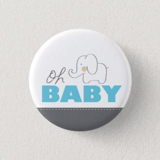Oh botón azul y gris del elefante del bebé - de la