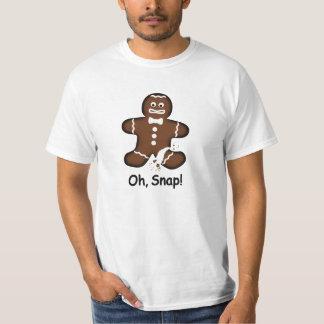 ¡Oh, broche! Camiseta exagerada del hombre de pan