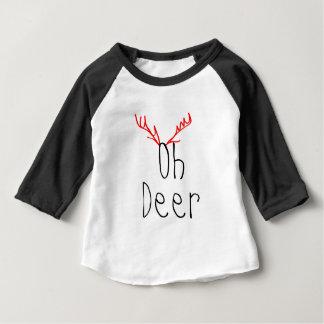 Oh camiseta del raglán del bebé del navidad de los