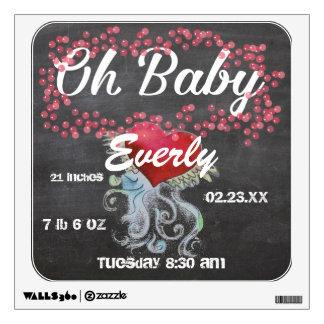 Oh chica femenino rosado personalizado bebé