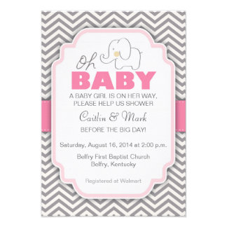 Oh elefante del bebé - la fiesta de bienvenida al comunicado personal