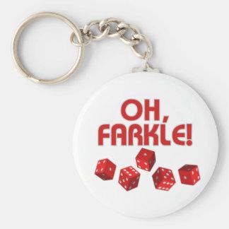 ¡Oh, Farkle! Llavero Redondo Tipo Chapa