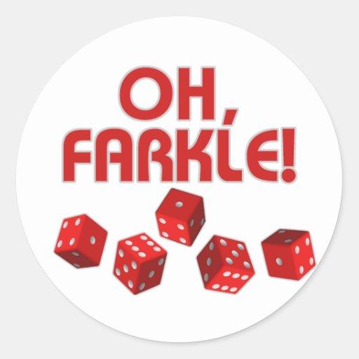 ¡Oh, Farkle! Etiquetas Redondas